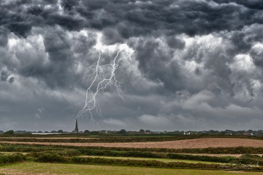 Devid Camerlynck Storm Clouds, Guernsey